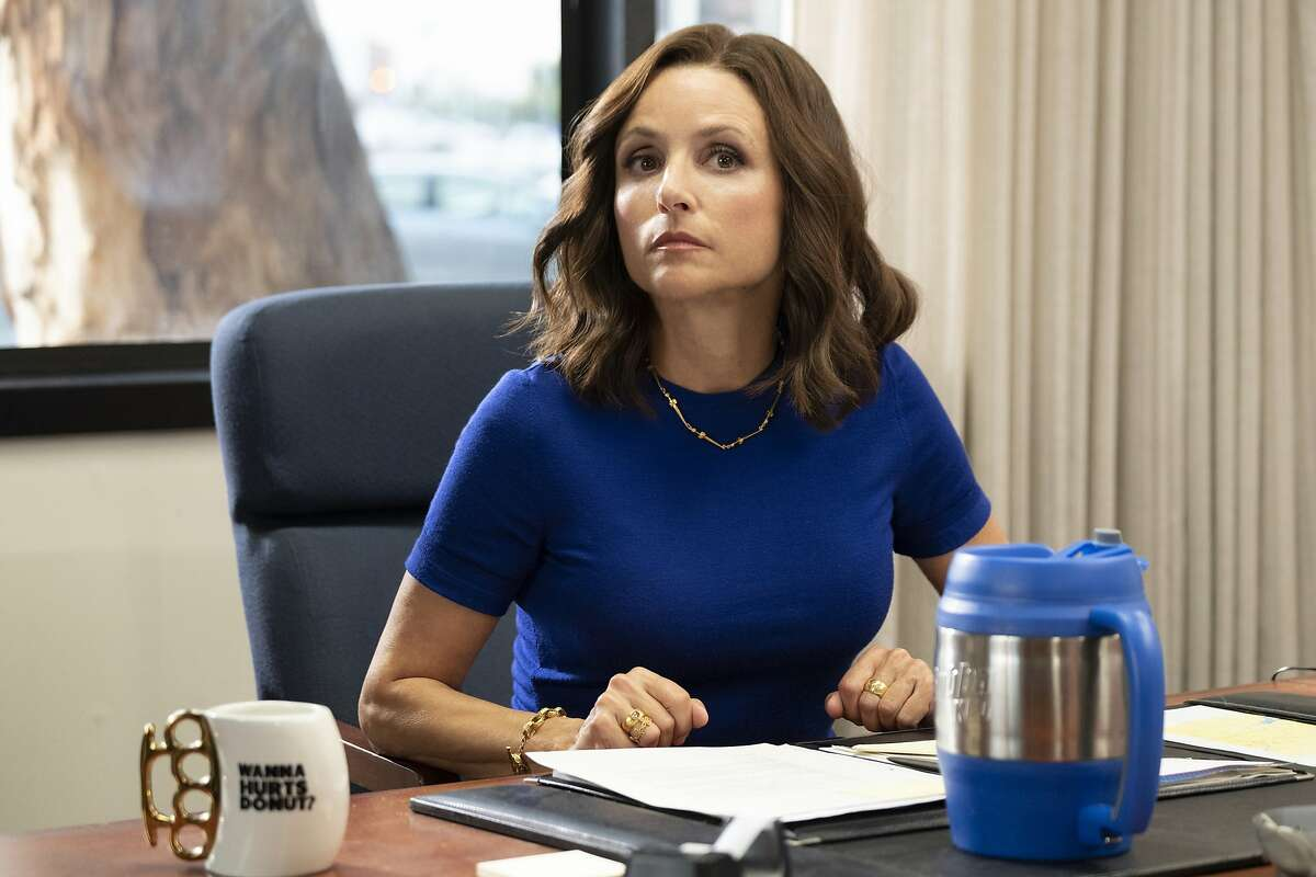 """This image released by HBO shows Julia Louis-Dreyfus in a scene from """"Veep.""""(HBO via AP)"""
