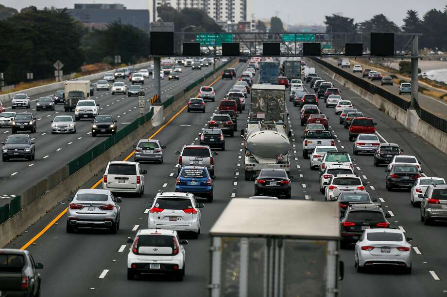 Traffic on I-80 and I-580 as seen from the San Francisco Bay Trail pedestrian bridge on the morning of Monday, July 8, 2019, in Berkley, Calif. Photo: Josie Norris / The Chronicle