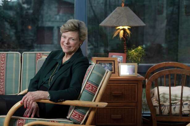 Journalist and author Cokie Roberts in her home in Bethesda, Md., in February 2019.