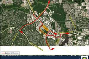 Officials with the San Jacinto River Authority and Montgomery County Precinct 3 Commissioner James Noack are both advising drivers in The Woodlands to use these alternate routes to get around the continued closure of the eastbound lanes of Research Forest Drive between Technology Forest Boulevard and New Trails Drive. The lanes will be closed for an undetermined time period as repairs continue. The portion of the road will remain closed through at least Sept. 30.