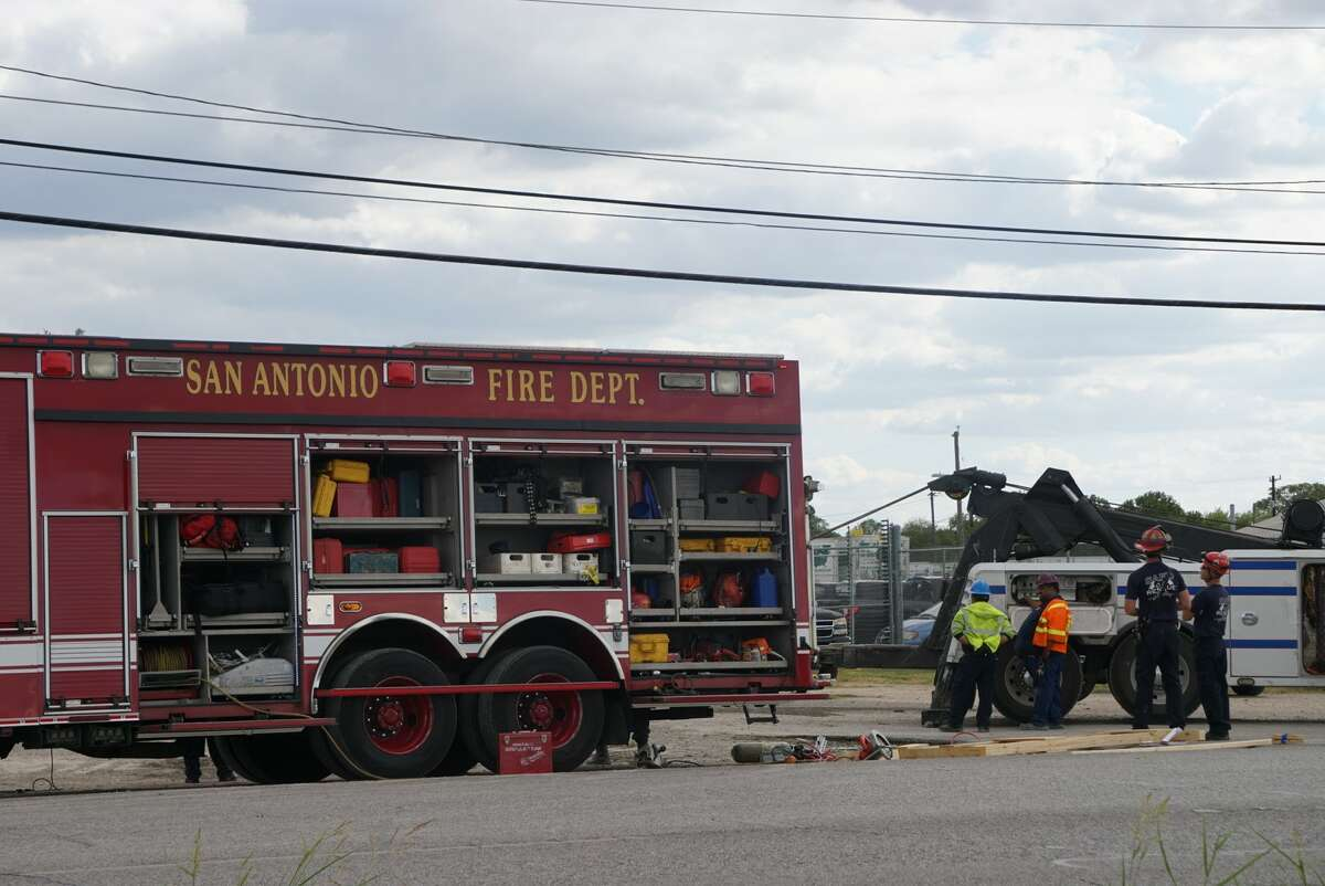 A dump truck driver died Tuesday Sept. 17, 2019, after his truck crashed through a business in the 4200 block of Frontage Road near Interstate 10 and North W.W. White Road.