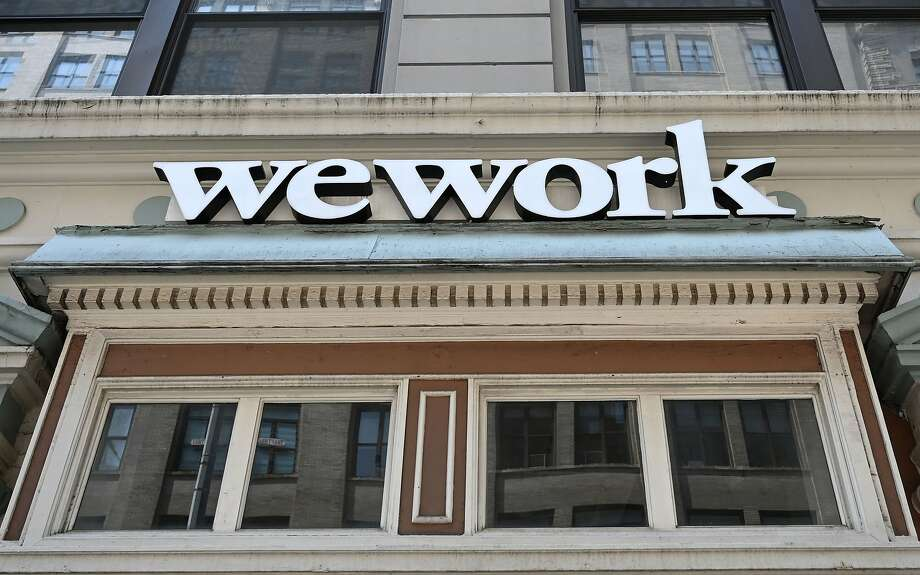 (FILES) In this file photo taken on July 19, 2019, a WeWork office is seen in New York City on July 19, 2019. Photo: Timothy A. Clary, AFP/Getty Images