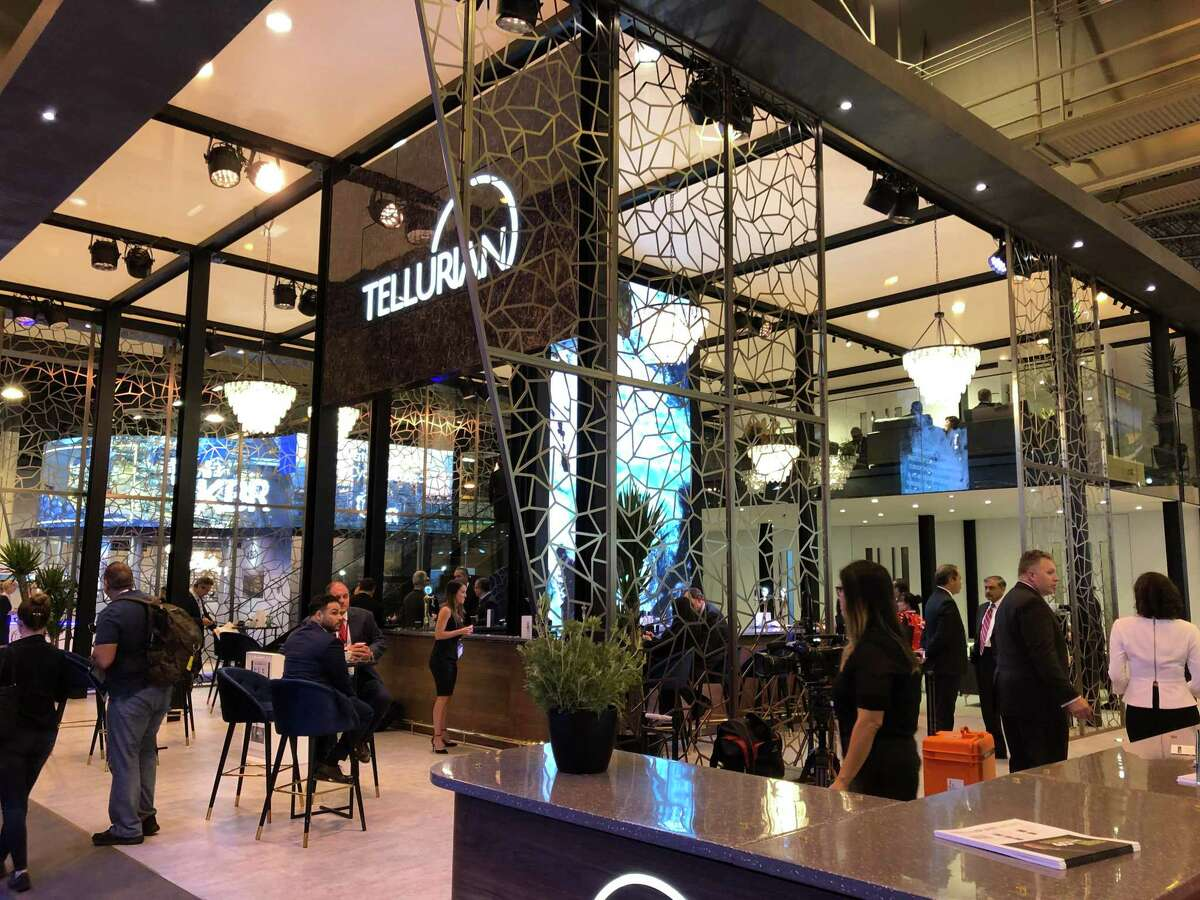 Houston-based Tellurian set up arguably the most lavish exhibit, including chandeliers, within the Gastech conference at the NRG Center in Houston. Tellurian Chairman Charif Souki was a featured speaker.