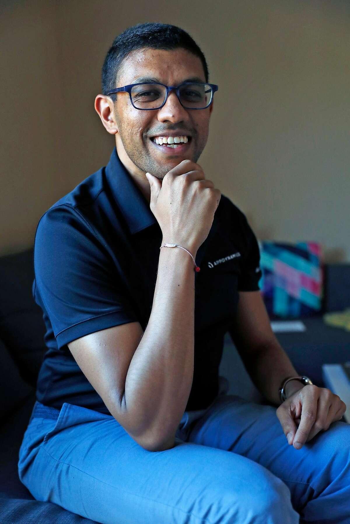 Shreyans Parekh at his residence in Foster City, Calif., on Thursday, September 12, 2019.