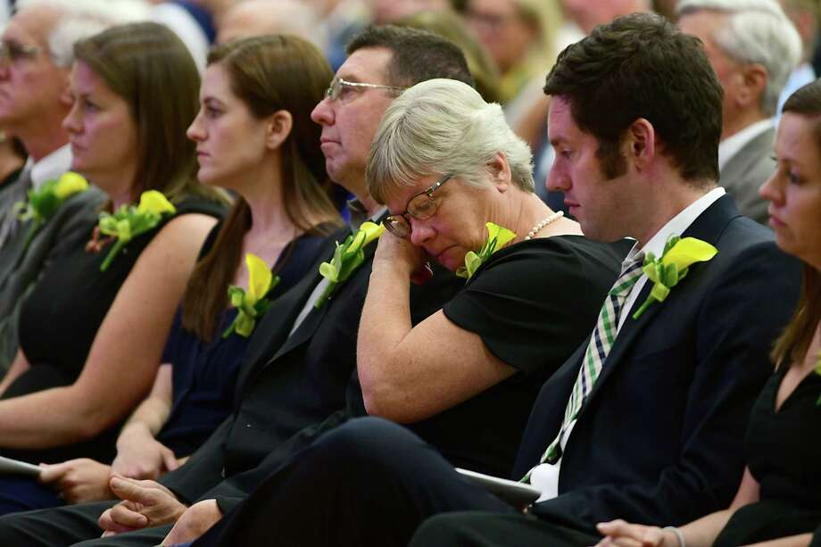 Family of the late president of Siena College Br. F. Edward Coughlin O.F.M., Ph.D. are seen at a memorial mass for him at Siena College on Tuesday, Sept. 17, 2019 in Loudonville, N.Y. (Lori Van Buren/Times Union) Photo: Lori Van Buren, Albany Times Union / 20047838A