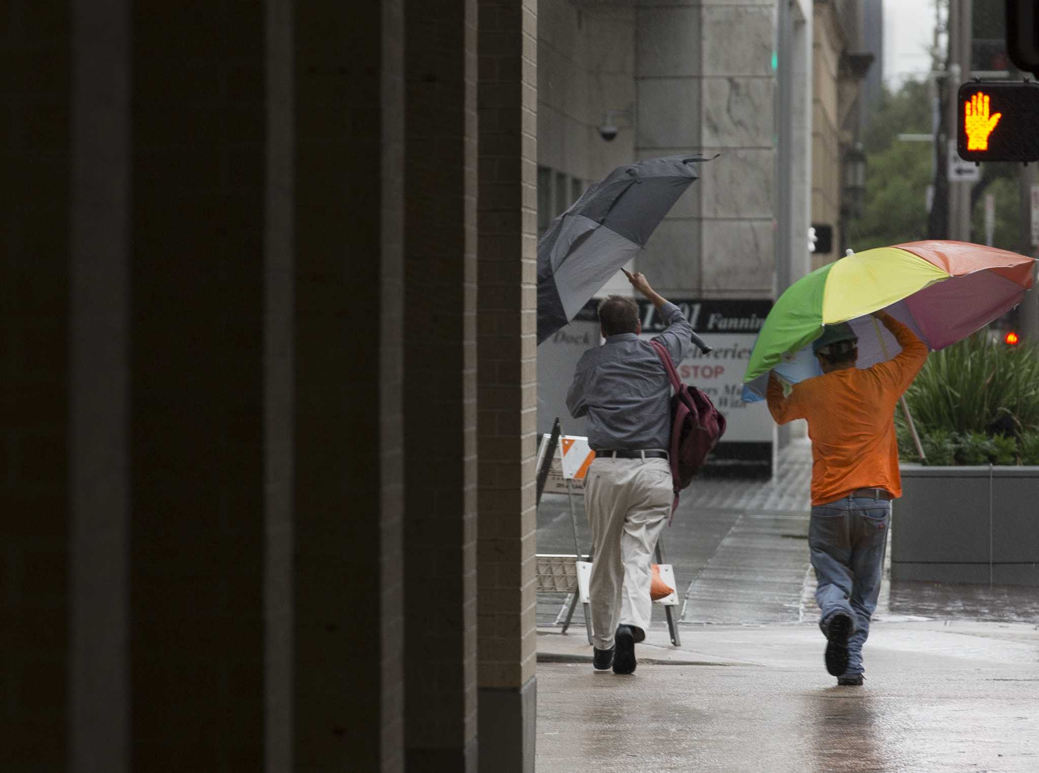 Streets flood, but Houston's business districts escape Imelda's wrath