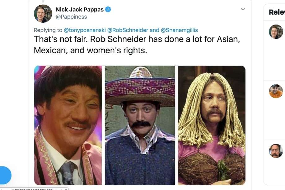 "Actor and comedian Rob Schneider blamed 'cultural unforgiveness' for the firing of Shane Gillis from ""Saturday Night Live"" in recent comments on Twitter. Photo: Screenshot Via Twitter"