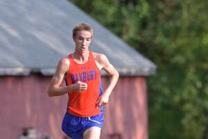 Danbury's Jack Watson finished first in the boys Cross Country meet between Fairfield Ludlowe, Greenwich, Norwalk and Danbury high schools, Wednesday, September 11, 2019, at Tarrywile Park, Danbury, Conn.
