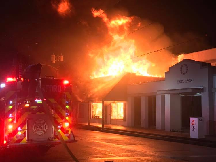 Fire breaks out in historical downtown Wharton, damages three buildings
