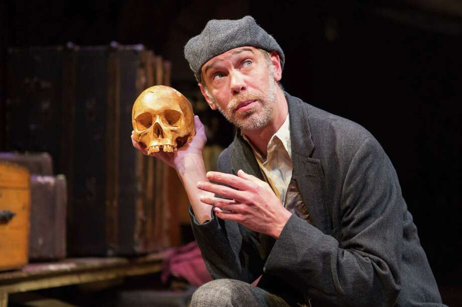 """Louis Butelli plays the title character in the one-man show """"Gravedigger's Take,"""" presented at Skidmore College on Sept. 28 by Saratoga Shakespeare Company andFolger Theatre at Folger Shakespeare Library in Washington, D.C. (FT publicity photo by Teresa Wood.) Photo: Teresa Wood, Folger Theatre"""
