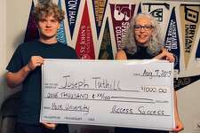 Access Success in New Milford recently presented Joseph Tuthill, a 2019 New Milford High School graduate, with this year's $1,000 Access Success annual scholarship. Joe, who is shown above with Francesca Morrissey of Access Success, will attend Pace University in the fall. Access Success worked with 85 seniors from over 20 high schools and from six different states during the 2018-19 application season. In other news, Access Success recently opened an office in Fairfield County.