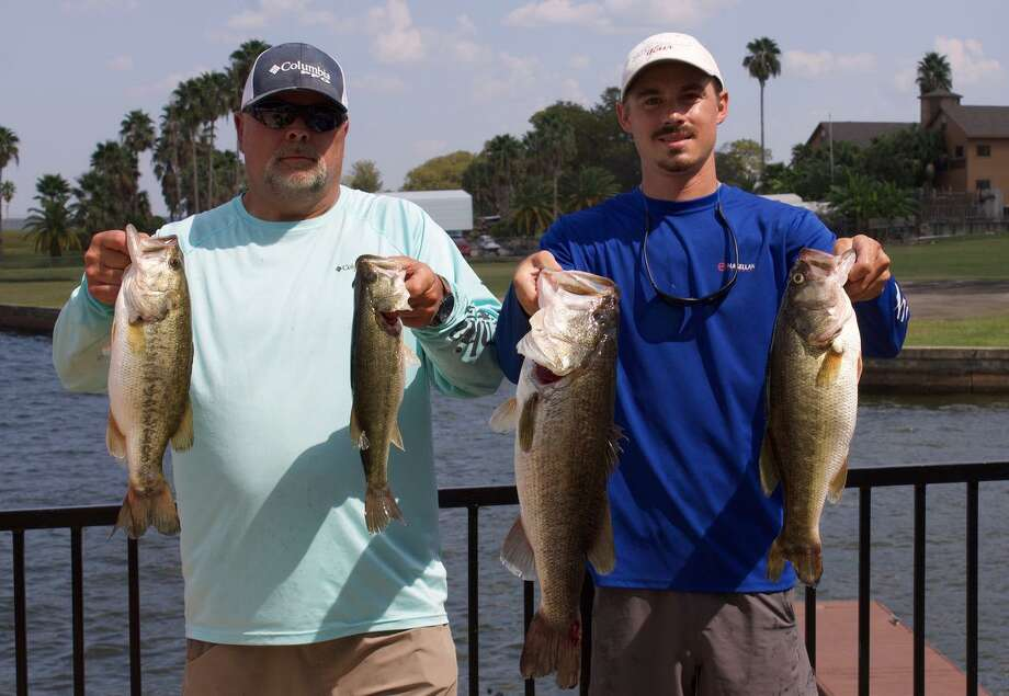 Bobby Reaves and Dillon Smith came in first in the CONROEBASS Mid-Day Madness Tournament with a weight of 18.89 pounds. Photo: CONROEBASS