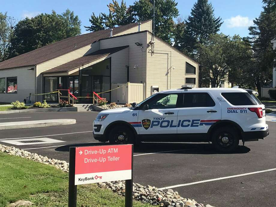 Troy police are investigating a robbery that occurred Wednesday morning at the KeyBank branch at 820 Second Ave. Photo: Kenneth C. Crowe II / Times Union