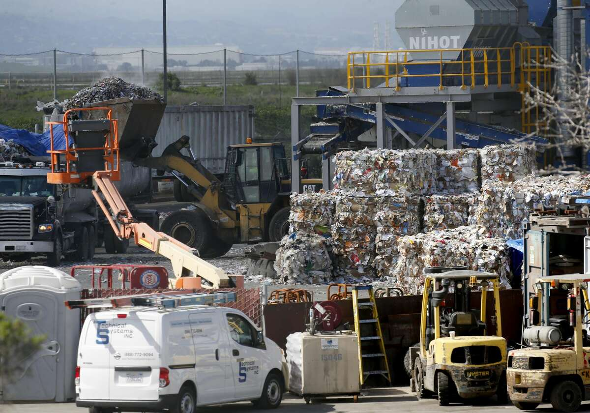 FILE - The Newby Island Resource Recovery Park near the Newby Island Landfill is seen in Milpitas, Calif., on Tuesday, March 12, 2019. The state Air Resources Board is doing a study of odors in the area.