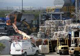 MILPITAS, CA - MARCH 12: The Newby Island Resource Recovery Park near the Newby Island Landfill is seen in Milpitas, Calif., on Tuesday, March 12, 2019. The state Air Resources Board is doing a study of odors in the area. (Photo by Jane Tyska/MediaNews Group/The Mercury News via Getty Images)
