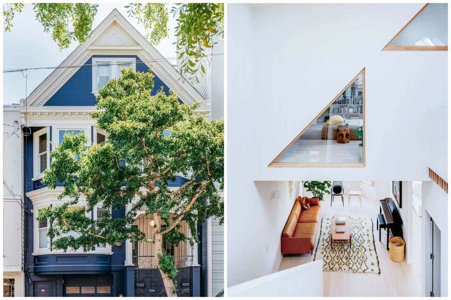 The top two floors of a Victorian home at 1985 15th St. in San Francisco's Mission Dolores neighborhood have been turned into a light-filled space with a Scandinavian twist. Photo: Christopher Stark