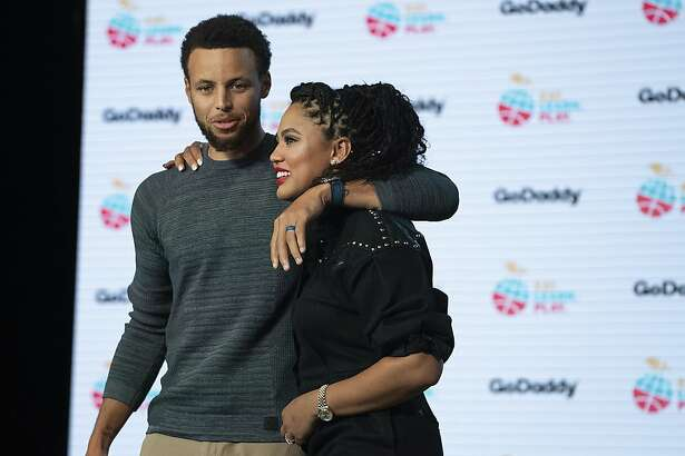 IMAGE DISTRIBUTED FOR GODADDY - Stephen Curry and Ayesha Curry launch the new Eat. Learn. Play. foundation website (www.eatlearnplay.org) powered by GoDaddy at the Midway on Tuesday, September 17, 2019, in San Francisco, California. (Photo by Don Feria/Invision for GoDaddy/AP Images)