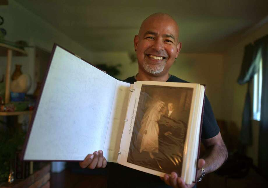 San Antonian Mike Rodriguez made it his mission to get the photo album back into the hands of a rightful heir.  Photo: Billy Calzada /Staff Photographer / Billy Calzada