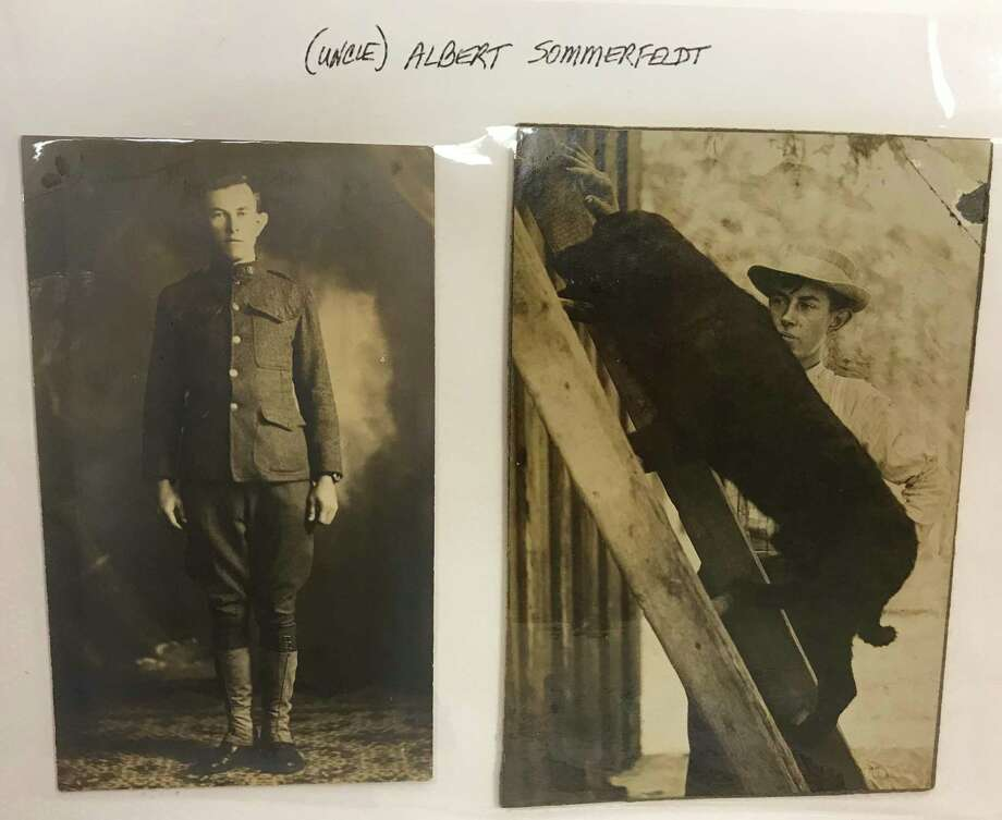 Albert Sommerfeldt figures prominently in the vintage photo album. When Julie Worthen saw the photo on the right, she saw a striking resemblance to her youngest son. Photo: René A. Guzman /Staff