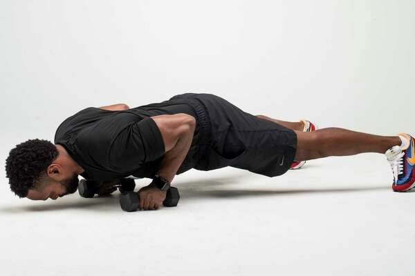 Push-Up with Rotation. Step 1.