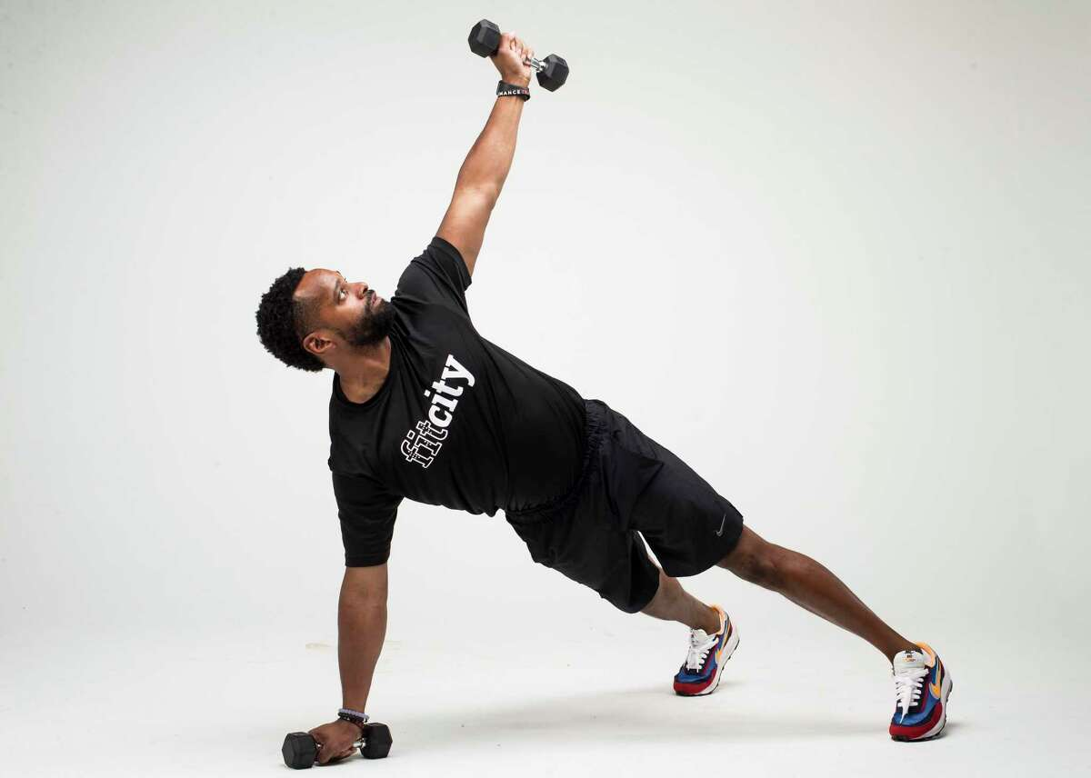 Push-Up with Rotation. Step 3.