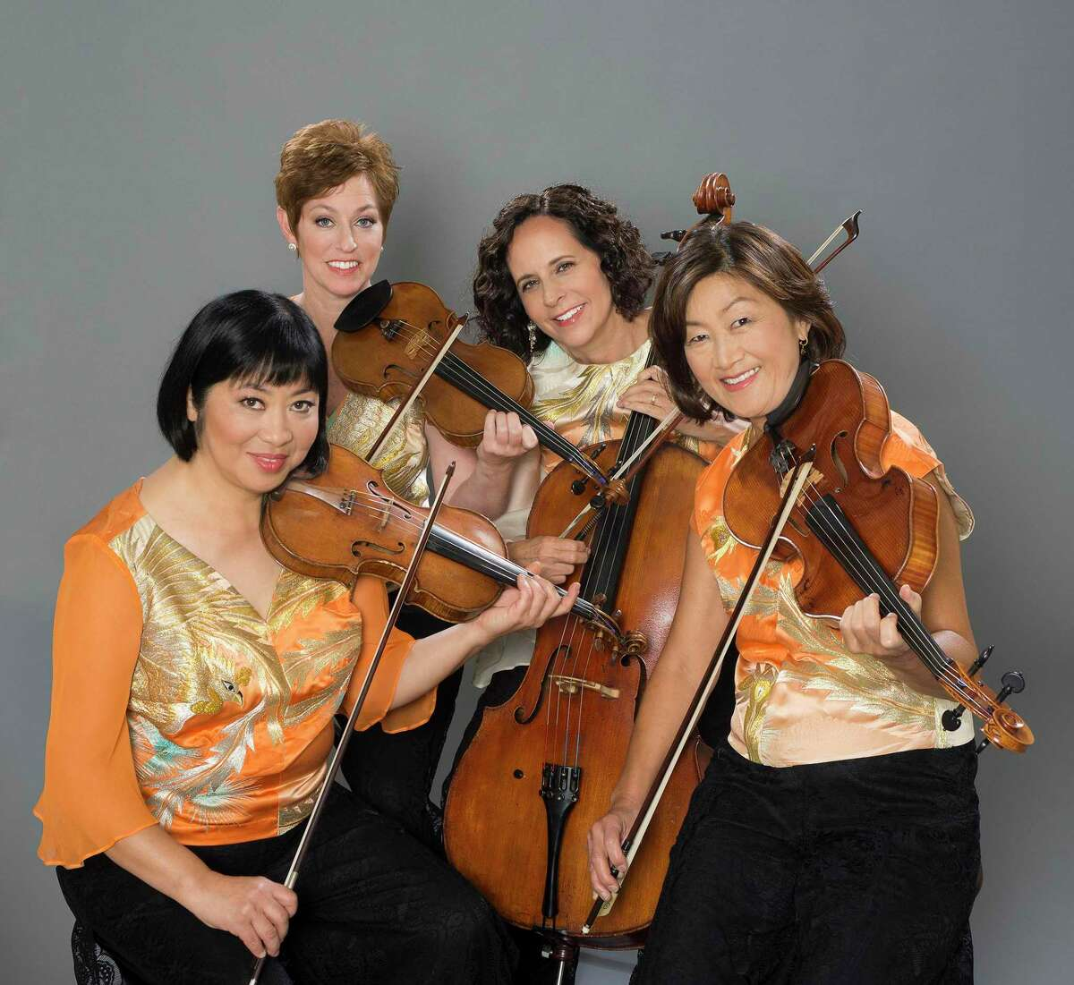 The Treetops Chamber Music Society is hosting the internationally acclaimed Cassatt String Quartet, pictured, and pianist Magdalena Baczewska at the Carriage Barn Arts Center in New Canaan on October 6.