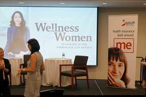 Were you Seen at Wellness for Women event at the Hearst Media Center on Tuesday, Sept. 17, 2019? The Women@Work panel featured Ho Kwan Cheung, a University at Albany assistant professor of psychology, and Edi Pasalis, director of RISE Programming at Kripalu Center for Yoga and Health, moderated by Susan Mehalick, executive editor of Women@Work. They teamed up to outline issues facing women in the workplace and offer solutions for coping with the day to day and well as approaches for making long term, sustainable change.