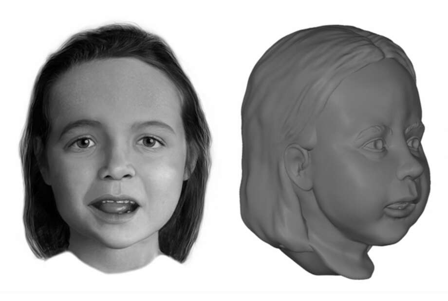 Officials with the National Center for Missing and Exploited Children released this composite of a young girl found dead and stuff in a suitcase along Interstate 45 in Madison County in September 2016. Anyone who might know who the girl is or how she died is urged to call the National Center for Missing & Exploited Children at 1-800-THE-LOST (1-800-843-5678). Photo: National Center For Missing And Exploited Children