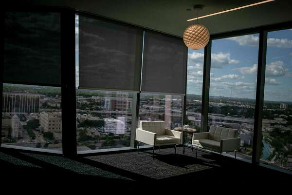 The view from the 14th floor lobby of the new Frost Tower Building in downtown San Antonio.