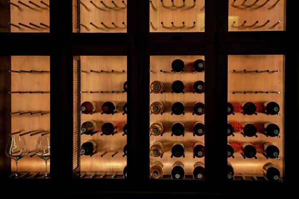 Tenants get use of their own wine cellar in the Cypress Lounge.