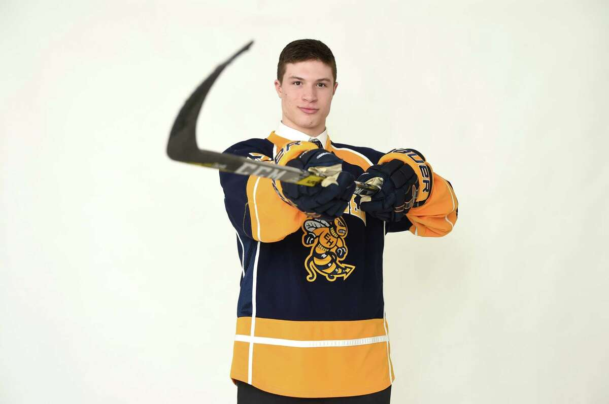 East Haven's Nick Capone, a 2017 All-State hockey selection.