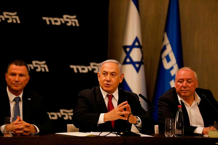IPrime Minister Benjamin Netanyahu (center) had hoped to capture a narrow coalition of hard-line parties that would grant him immunity from a looming corruption indictment. Photo: Menahem Kahana / AFP / Getty Images
