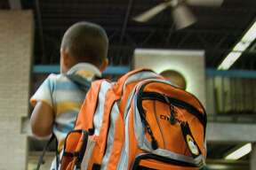 A backpack should weigh no more than 15 percent of the child's weight.