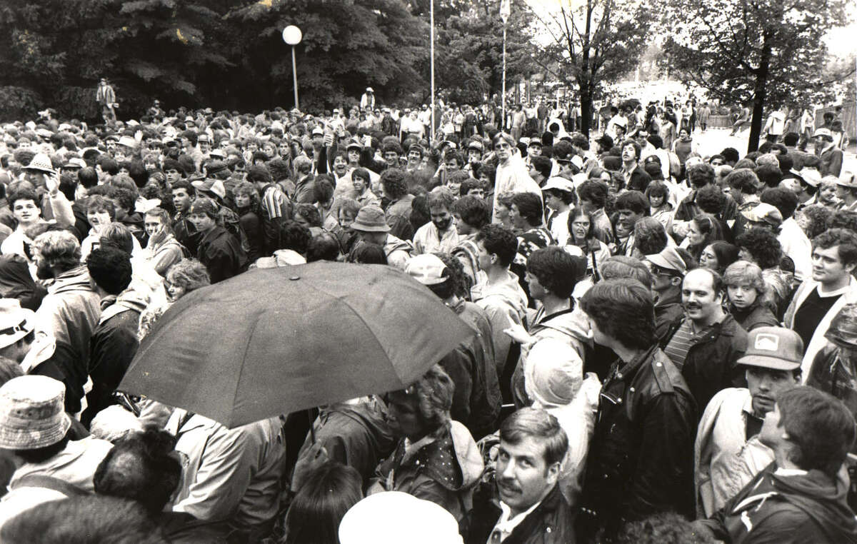 File photo by Hai Do -- Crowd at SPAC for Bruce Springsteen concert on July 27, 1984.