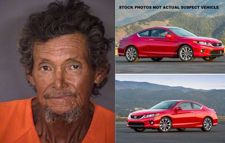 Crime Stoppers is looking for the identity and location of a suspect involved in a fatal hit and run. The photos of the cars are similar to the type of vehicle police said the suspect may have been driving in. The photo is of the man is of 72-year-old Benito Galvin Blanquiz, who died from the hit-and-run. Photo: Crime Stoppers