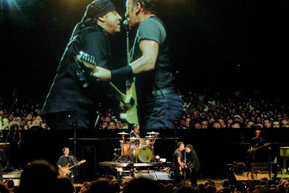 Bruce Springsteen performs at SPAC in Saratoga Springs, New York 8/25/2009. (Michael P. Farrell / Times Union )