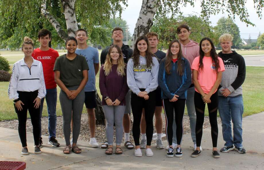 Cass City's king and queen court members are: front row from left, Hanna Dobson, Tiara Anthony, Taylor Cumper, Madilyn Tschirhart, Hailey Beckrow and Jozie Chippie; Back row from left, Kris Nika, Kendall Anthes, Sandyn Cuthrell, Hadyn Horne, Logan Boynton, and Colby Sutton. Photo: Courtesy Photo