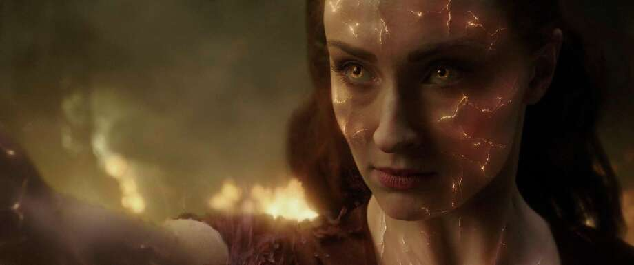 "This image released by Twentieth Century Fox shows Sophie Turner in a scene from ""Dark Phoenix."" (Twentieth Century Fox via AP) / TM & © 2018 Marvel & Subs. TM and © 2018 Twentieth Century Fox"