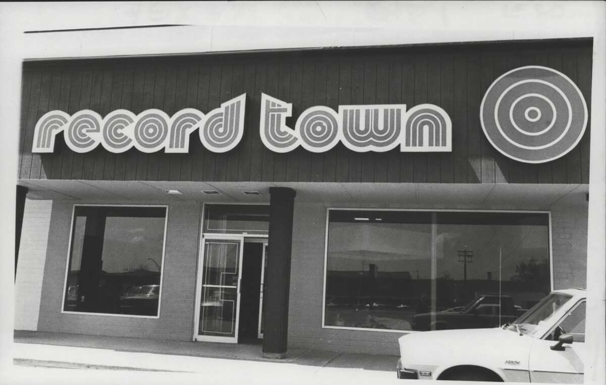 Record Town store on Wolf Road in Albany, New York. May 18, 1981 (Times Union Archive)