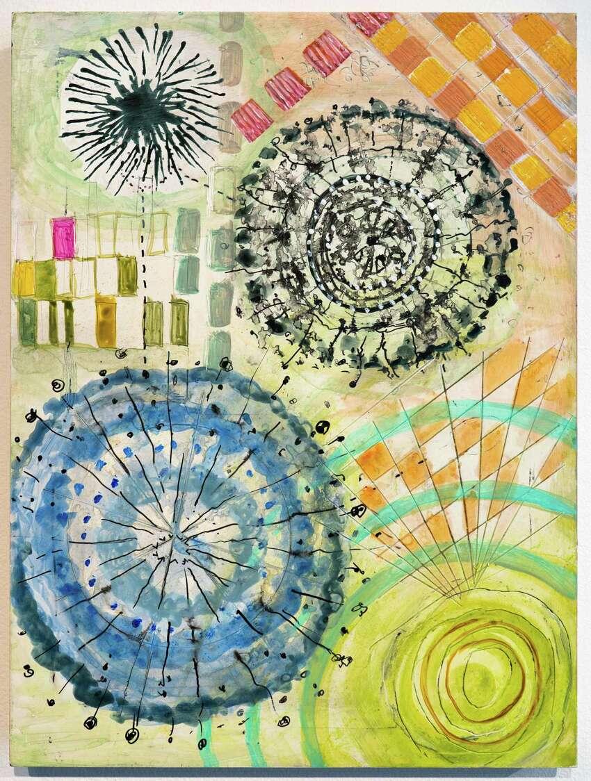 Dorothy Englander, Radiolaria 3, 2008. Acrylic, ink on clayboard. Photo Wm Jaeger