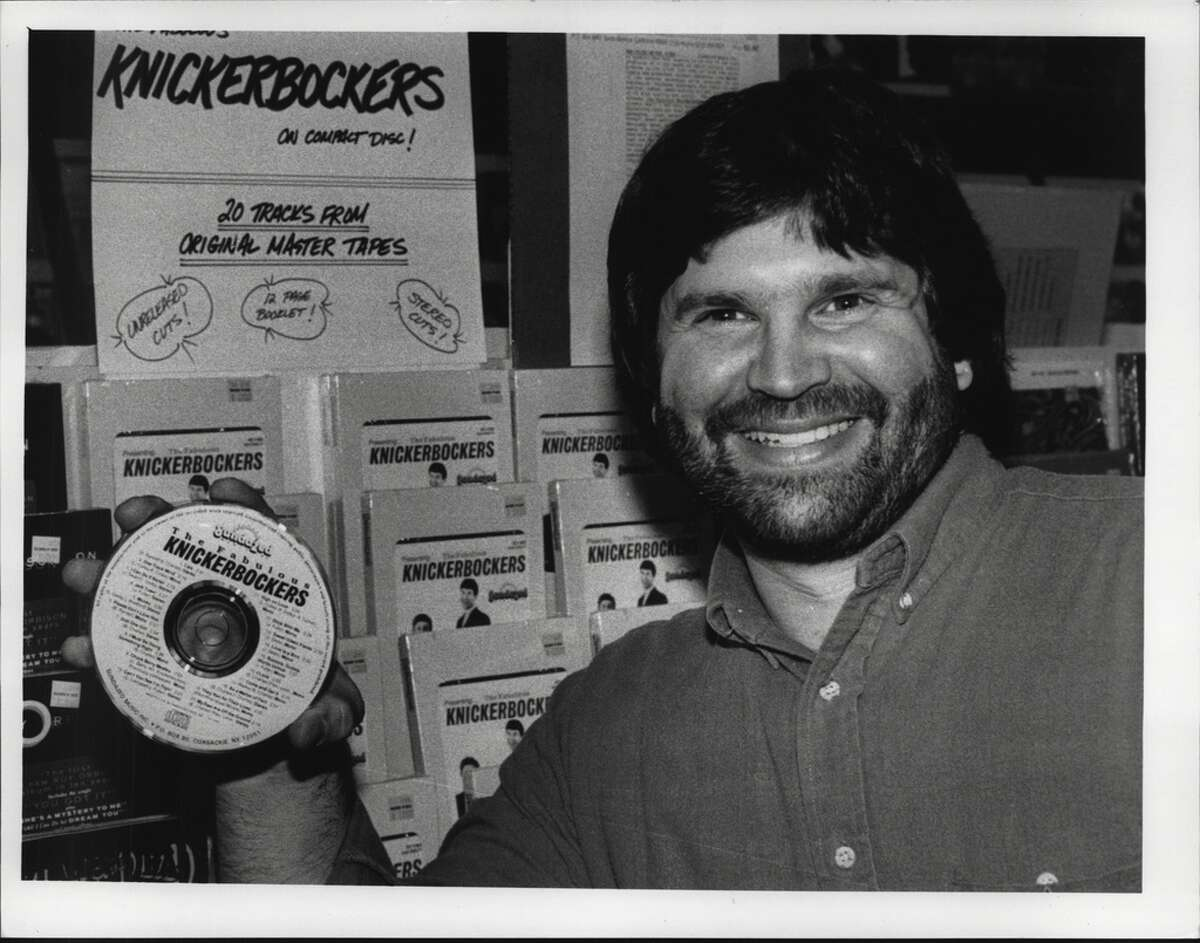 Records 'N' Such, Stuyvesant Plaza, Albany, New York - Bob Irwin and his Knickerbocker compact disc. April 17, 1989 (Arnold LeFevre/Times Union Archive)