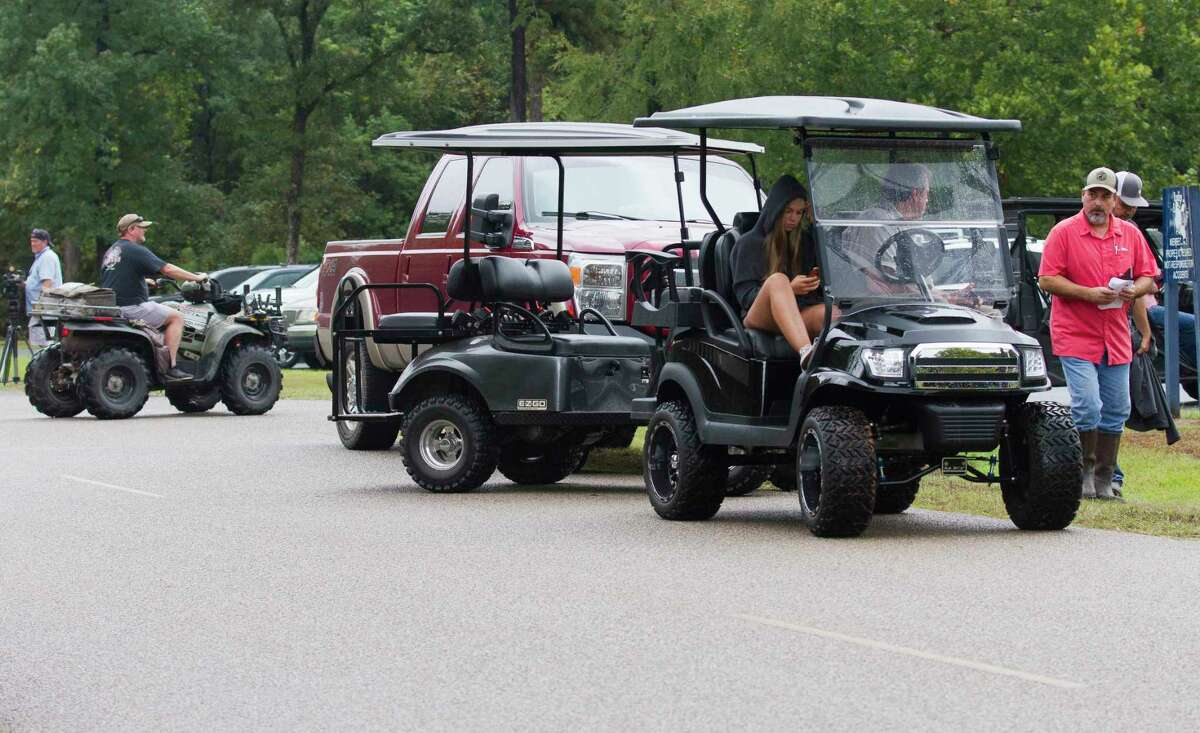 Community members used all-terrain vehicle to help search for 15-year-old Ryder Cambron, Wednesday, Sept. 18, 2019. The Magnolia teen went missing Tuesday night after she went for a ride on an off-road vehicle near a wooded area in Montgomery County.