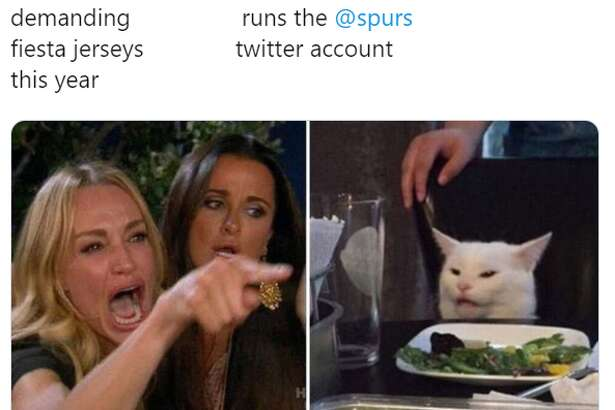 @okayitsomar: Spurs Nation              The person who demanding                 runs the @spurs fiesta jerseys              twitter account this year
