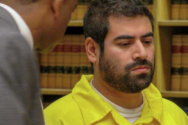 Emanuel Dominguez-VillaGomez appears in Superior Court in New Haven Tuesday.