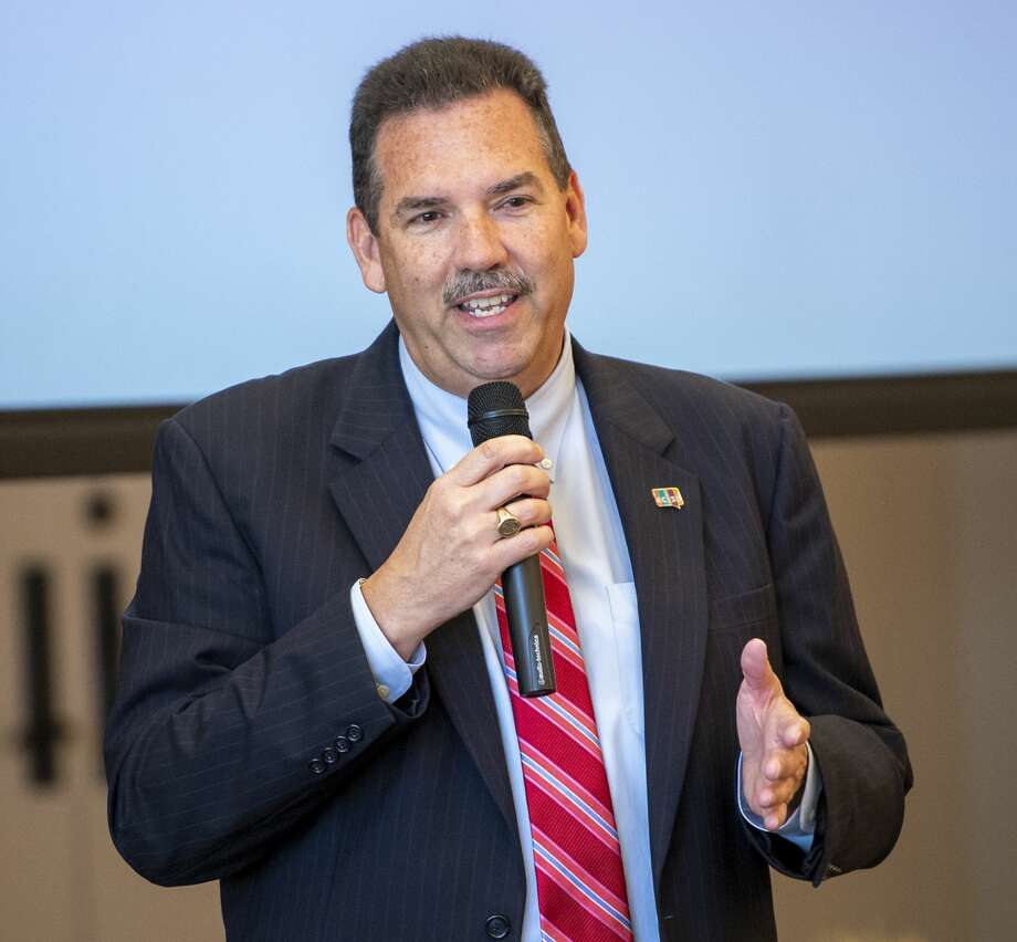 ECISD Superintendent Scott Muri talks about ECISD at the Ector County Republican Women's luncheon Wednesday, Sept. 18, 2019 at the Odessa Country Club. Photo: Jacy Lewis/Reporter-Telegram