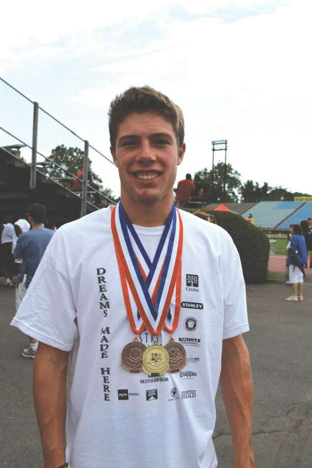 Darien senior Kevin Keller competed in the 15-18 age category in three events and brought home three medals: one gold and two bronze. Photo: Contributed Photo / Darien News