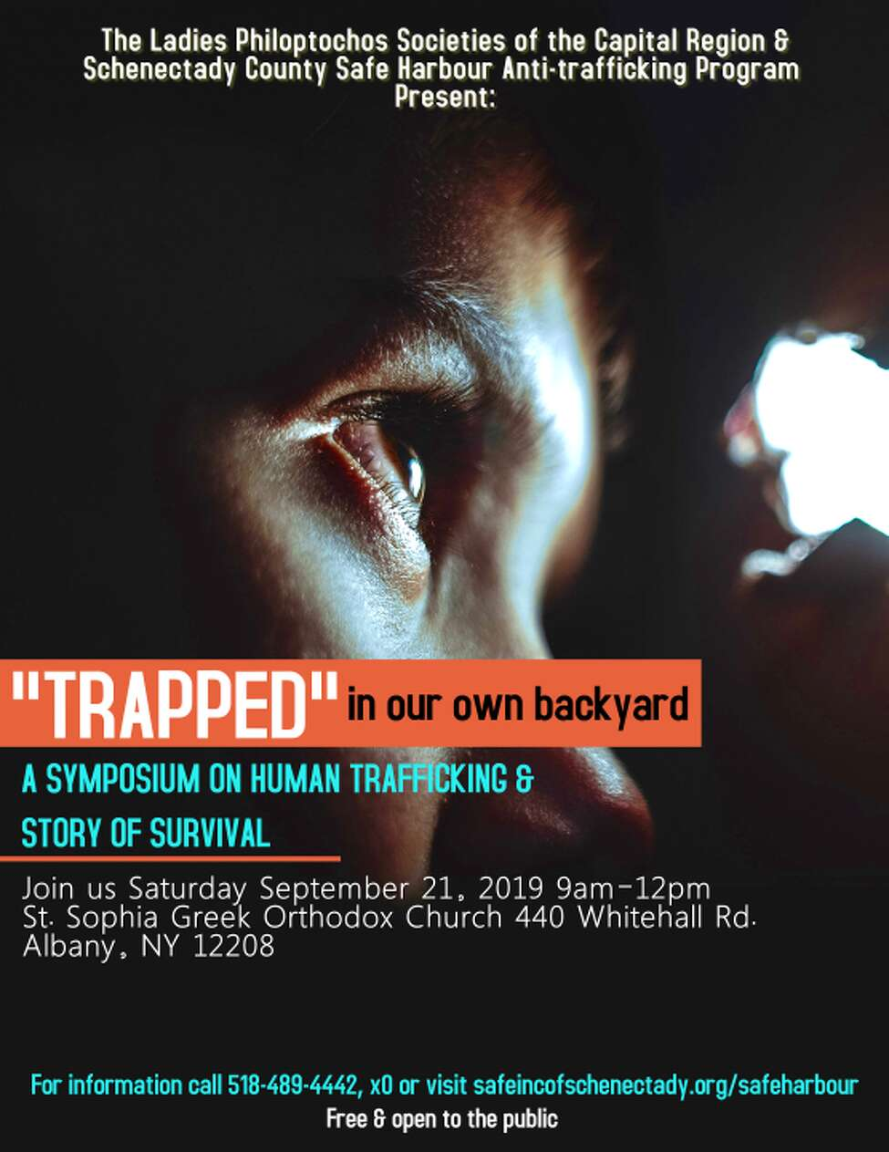 A symposium on human trafficking takes place in Albany on Saturday, Sept. 21, 2019.