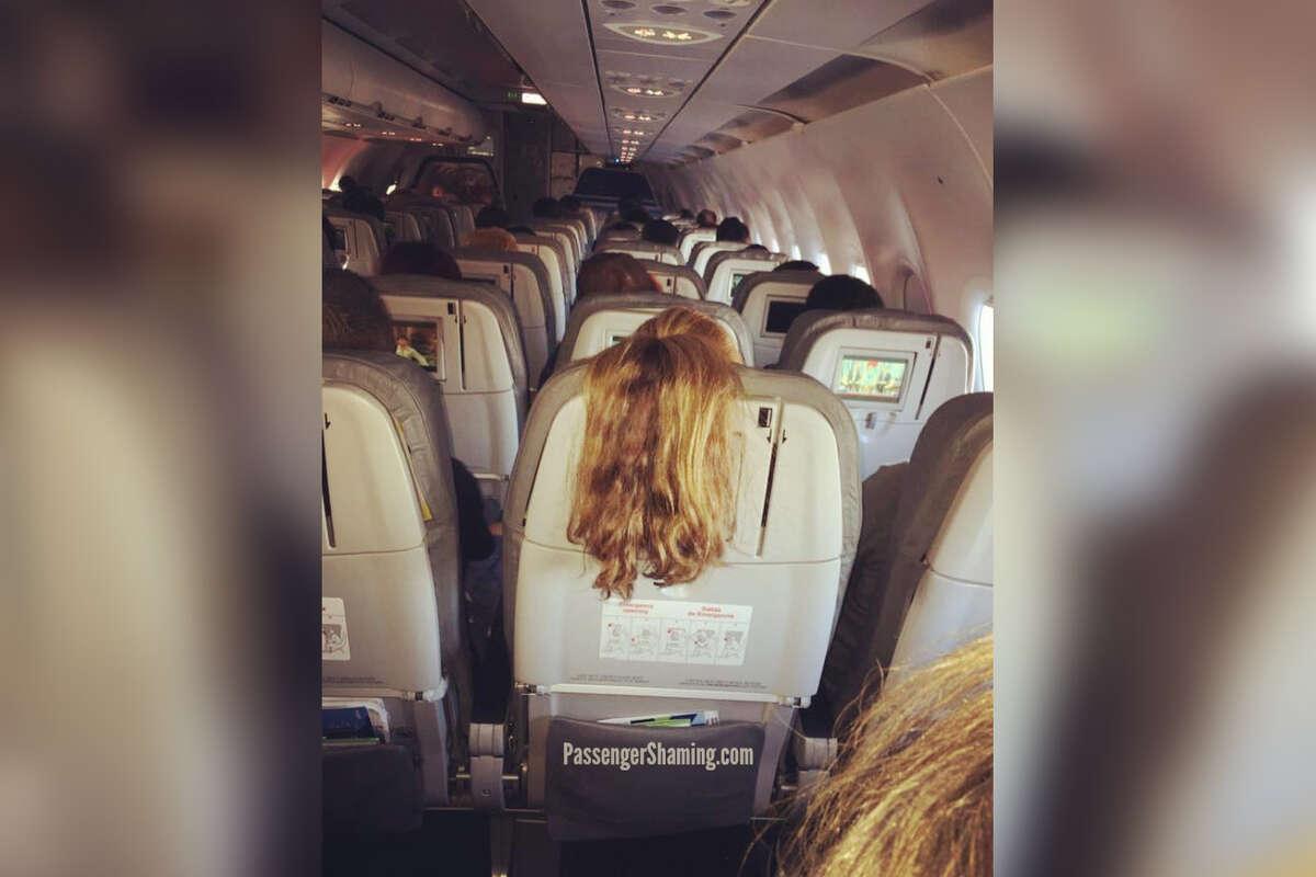 Former flight attendant Shawn Kathleen shares photos of passengers behaving badly on flights.