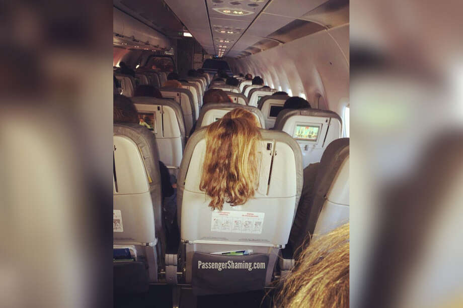 Former flight attendant Shawn Kathleen shares photos of passengers behaving badly on flights. Photo: Courtesy Of @passengershaming/Instagram