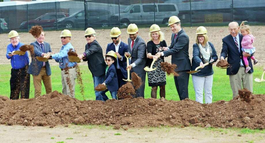 A ceremonial groundbreaking for Woodrow Wilson Middle School in Middletown was held in September at the front of the 1 Wilderman's Way facility. Construction on the $87.35 million combined middle school for sixth, seventh and eighth graders, which will incorporate students from Keigwin Middle School, is expected to be complete by the end of summer 2021. Photo: Hearst Connecticut Media File Photo